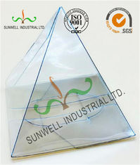Handmade Custom Gift / Craft Clear Packaging Boxes Triangle Glossy Lamination
