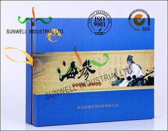 Matt Lamination Retangle Pharmaceutical Packaging Box With Glossy Tape For Opening