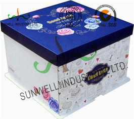 Corrugated Cardboard Food Packaging Boxes , Cardboard Takeaway Food Boxes