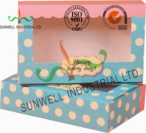 UV Coating Paper Egg Tart Take Away Food Packaging Boxes Gold Stamping